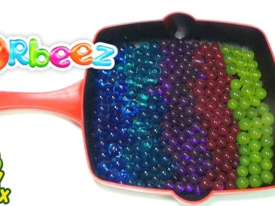 StressBall Orbeez DIY Frying Pan Vegetable Cooking Baby Bath Learn Colors & Names