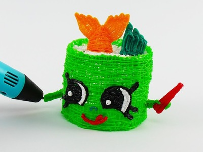 Suzie Sushi How to Draw With 3D PEN Shopkins Video For Kids