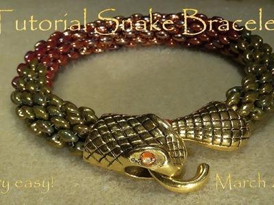 Tutorial Snake Bracelet .  very easy! - March 2017