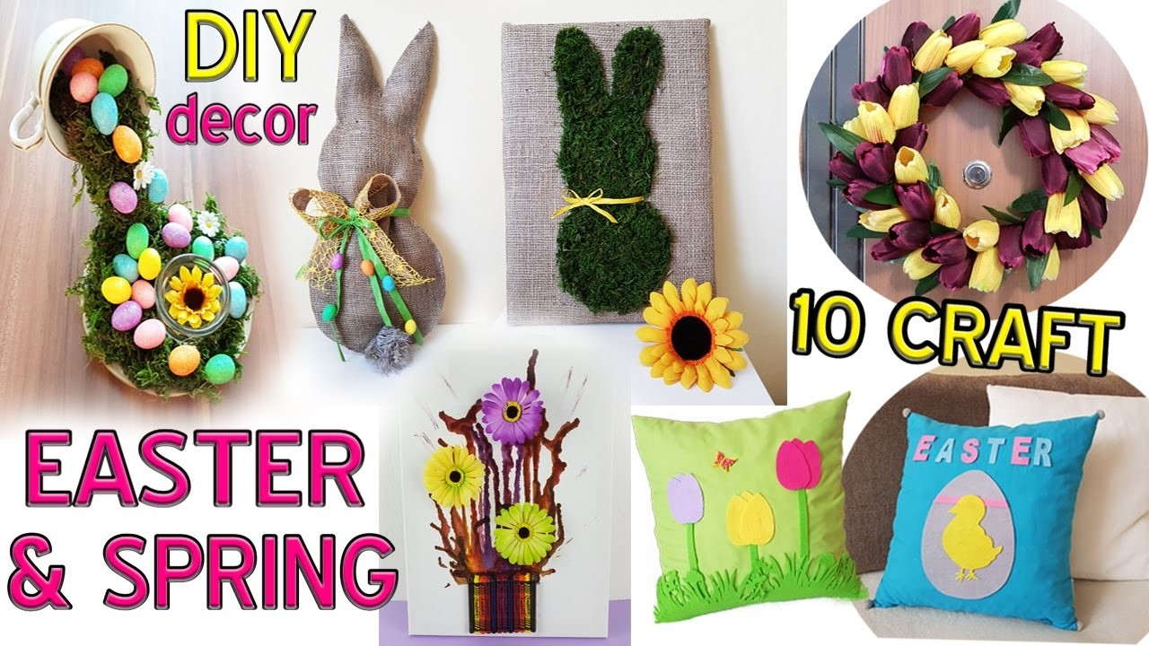 10 DIY Spring and Easter craft HOW TO!