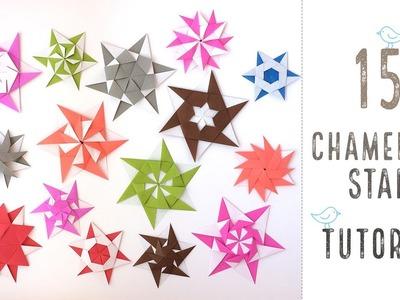 15 Chameleon Origami Stars Tutorial