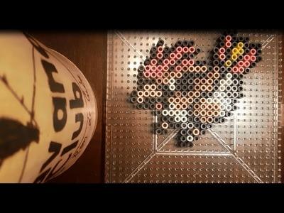 17: PIDGEOTTO. 151 Pokemon Challenge Perler.Hama Beads