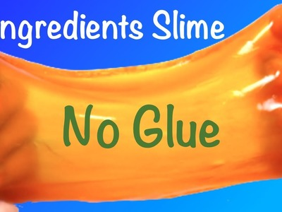 2 Ingredients Slime!!How to Make Slime Without Glue,Baking Soda,Borax or Hand Soap