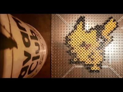 25: Pikachu . 151 Pokemon Challenge Perler.Hama Beads