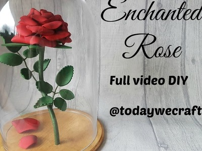 Beauty and the Beast Enchanted Roses Craft Tutorial