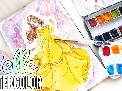 Belle (Beauty & the Beast) Watercolor ❖ DIY Coloring Book