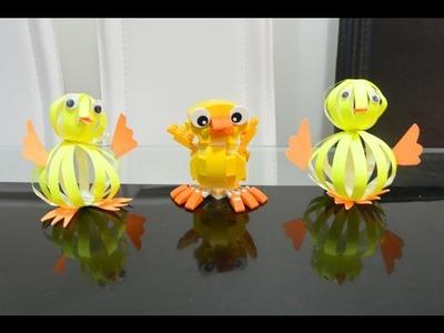 Bouncy Paper Duckling DIY, Art & Craft, Life Hack