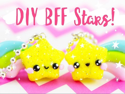 ♡ DIY BFF GLITTER STAR Rainbow Charms!! ♡ | Kawaii Friday