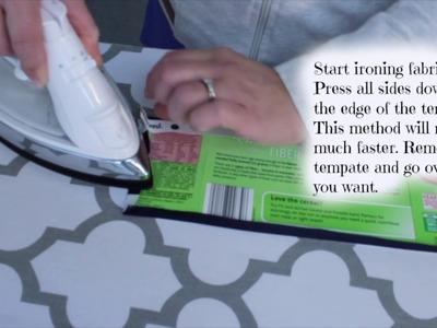 DIY: Burp cloth diaper tutorial