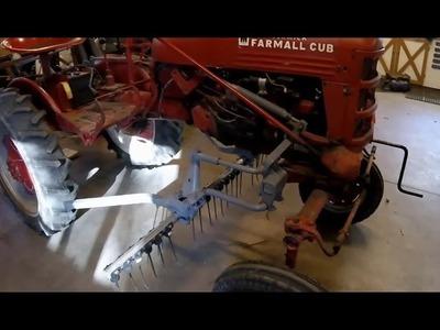 DIY - Dethatcher for the Farmall Cub - Redneck Style