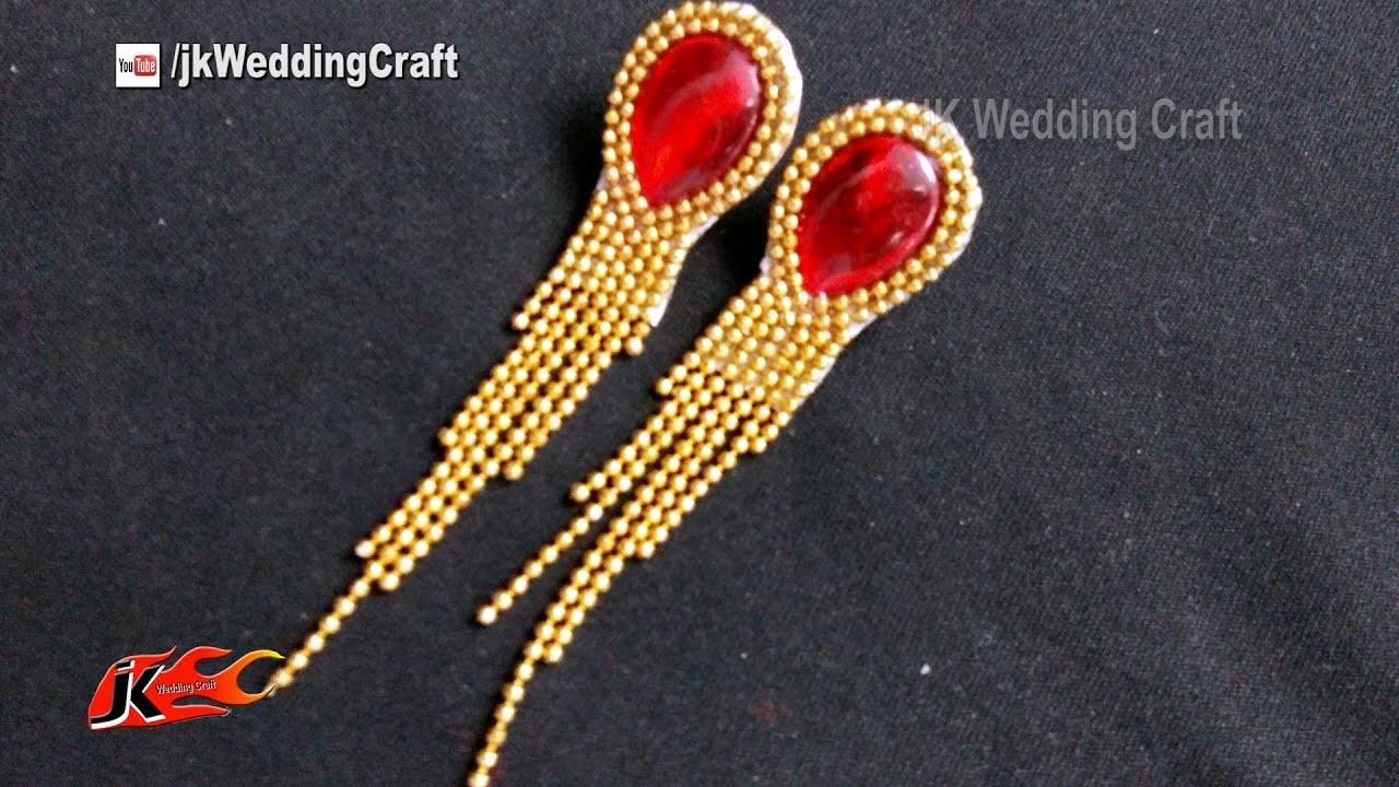 DIY Earrings Tutorial | How to make wedding jewelry | JK Wedding Craft 126