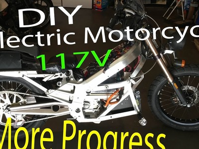 DIY Electric Motorcycle with 117V 28S Lithium Battery and 400A controller