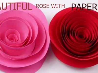 DIY flower by paper || beautiful rose by paper || paper flower || beautiful flower by waste paper