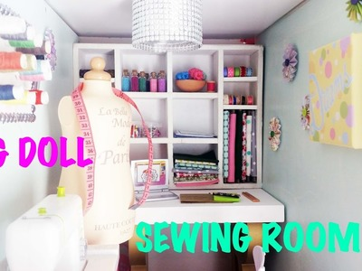 DIY:  How To Make and Set Up American Girl Doll Sewing.Craft Room
