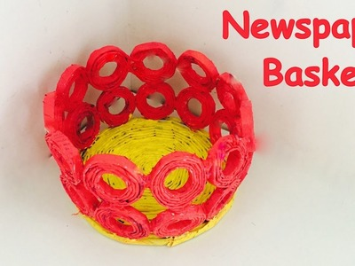 DIY - How to make newspaper basket? Newspaper craft.Best out of waste.