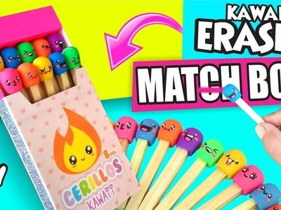 DIY ★ MATCH BOX ERASERS! ★ Easy DIY Crafts ★