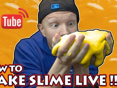 DIY NACHO CHEESE SLIME - HOW TO MAKE SLIME LIVESTREAM