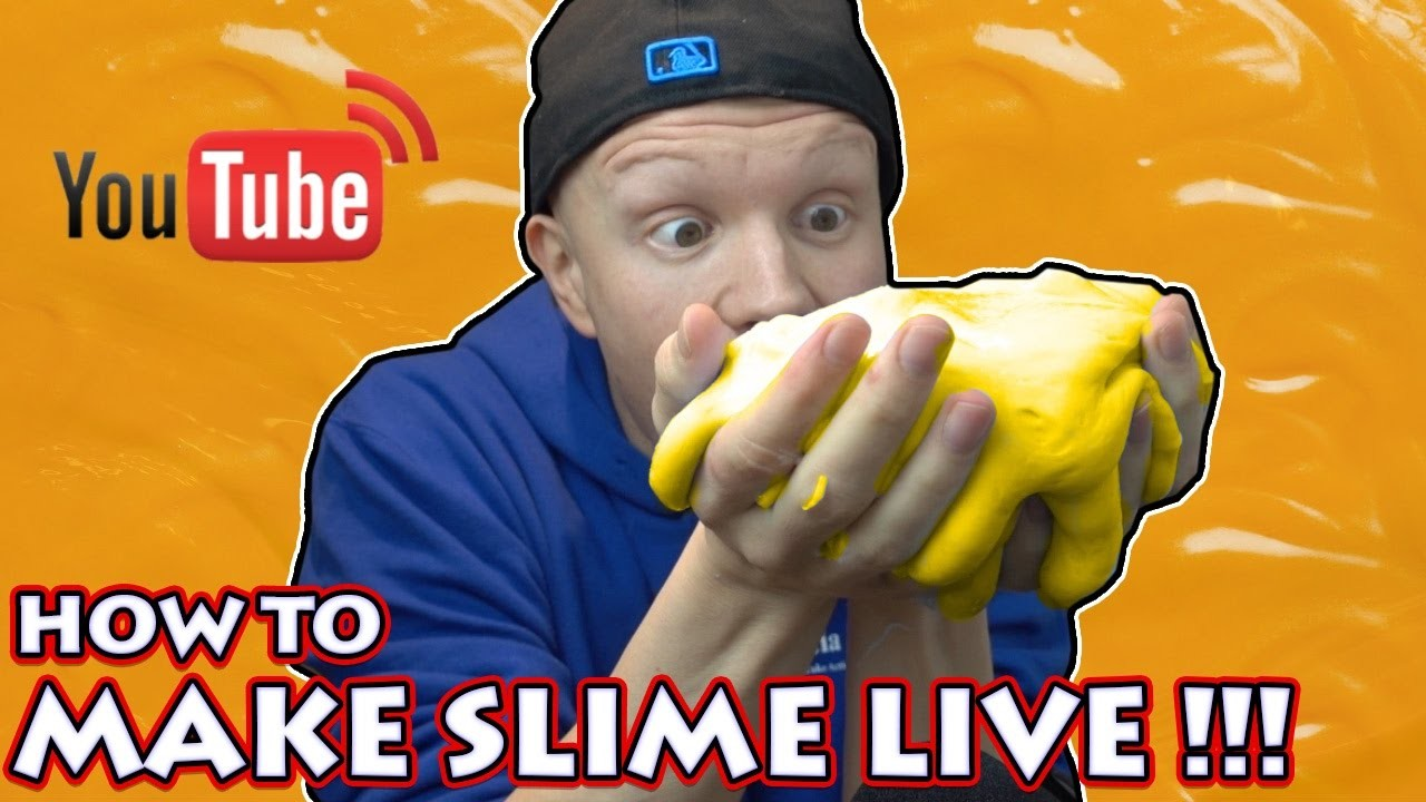 DIY NACHO CHEESE SLIME - HOW TO MAKE SLIME LIVESTREAM