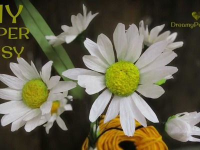 ????????DIY paper daisy flower with free template????????????
