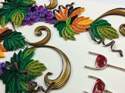DIY Paper Quilling Grapes Card. Frame