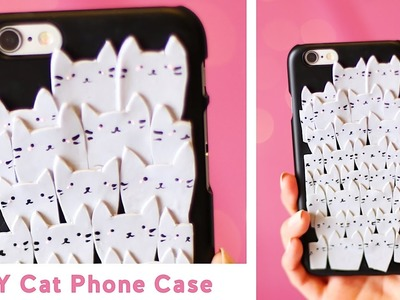 DIY Pile of Cats Phone Case ???? Polymer Clay Tutorial