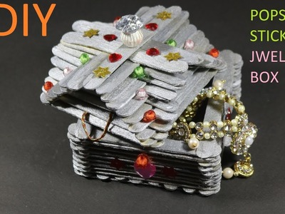 DIY# POPSICLE STICK JWELLERY BOX.HOW TO MAKE. POPSICLE STICK CRAFT.CWM# 16