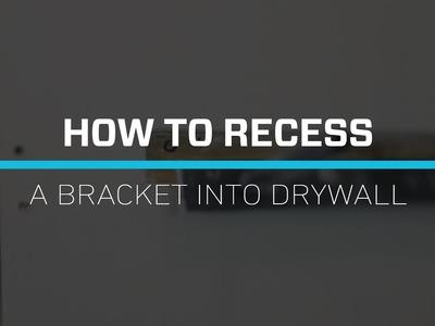 DIY- Recessing a Bracket- Floating Shelves Tutorial