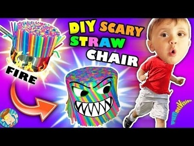 DIY Scary Baby Chair of Straws!  FUNnel Vision Gets Burned & Soggy Vlog