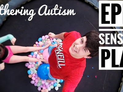 DIY Sensory Play Idea | Hundreds Of Water Balloons On A Trampoline