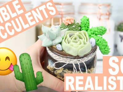 DIY Succulent Terrarium Cake Jars! How to Make Realistic Succulents out of Buttercream!
