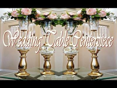 DIY Wedding.Table Centerpiece Tutorial ( 50% Dollar Tree Items Used)