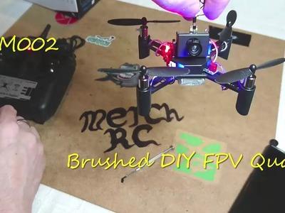 DM002 FPV Quad Unboxing DIY Speed Build And Test Flight (Courtesy Banggood)