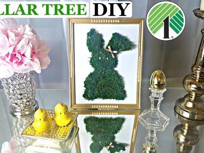 DOLLAR TREE DIY | Easter Bunny Moss Frame | Easy Easter Spring Craft