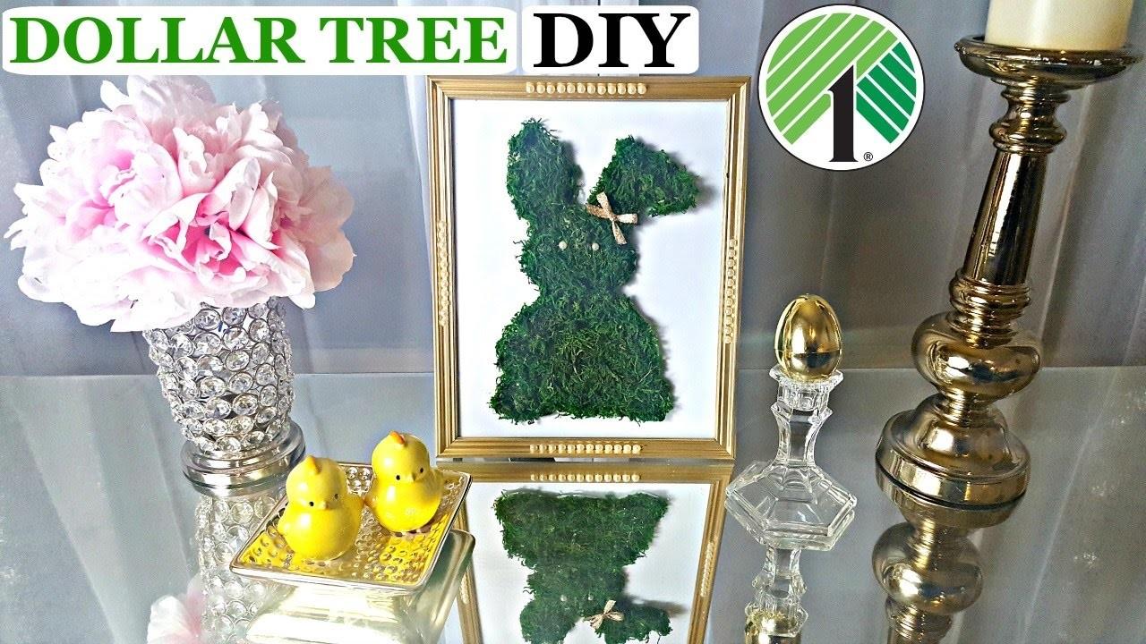 dollar tree diy easter bunny moss frame easy easter spring craft. Black Bedroom Furniture Sets. Home Design Ideas