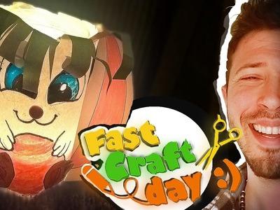 Easter bunny lantern - Fast craft day - Tasos day- DIY - (www.fastcraftday.com)