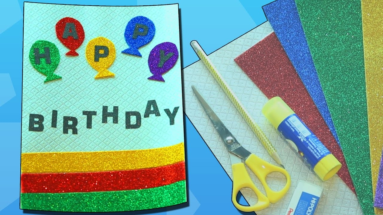 Easy birthday cards diy handmade birthday cards crafts for Easy diy arts and crafts