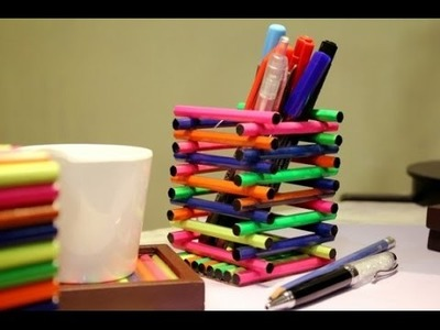 Easy Ice Cream Stick Craft - How to Make Mobile, Cup & Pen Stand