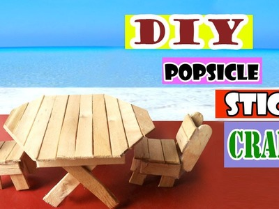 Easy Toys for Kids   Diy Table & Chairs using Popsicle Sticks