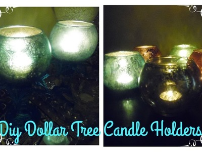 HIGHLY REQUESTED DIY -COLOR FAUX MERCURY GLASS CANDLE HOLDERS - DOLLAR TREE.MICHAELS CRAFT