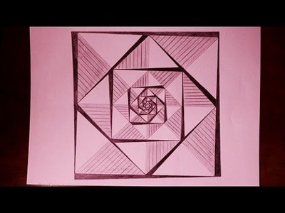How to Draw Easy Geometric Square Patterns painting