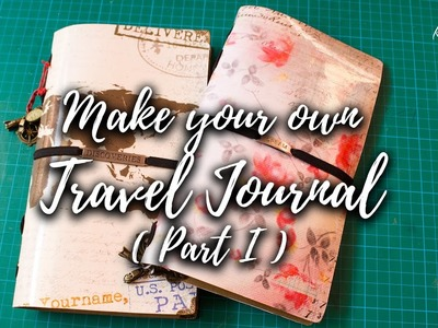 How to make a Travel Journal - Part 1 (DIY Video tutorial) #Craft Idea