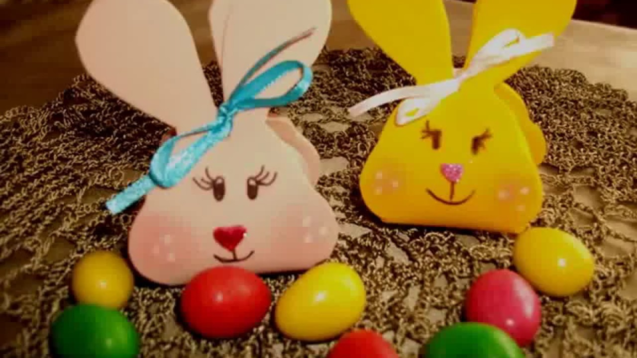 How to make an Easter bunny treat box.Video tutorial for DIY creative craft idea.