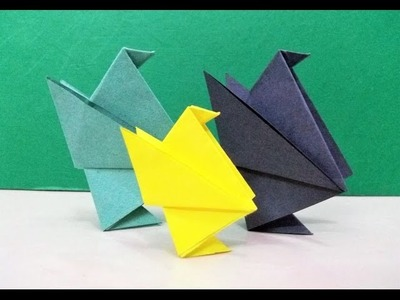 How to make an origami paper bird (chick) | Origami. Paper Folding Craft, Videos and Tutorials.