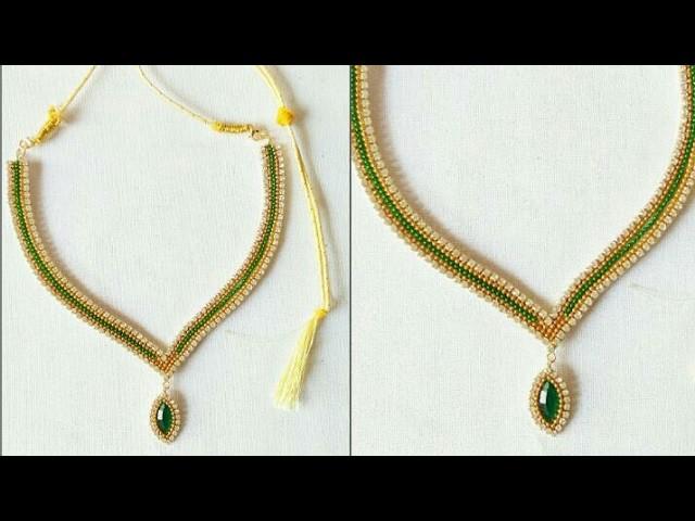 How To Make Bridal Necklace. chokar. Haaram. DIY. Home Made Tutorial #See Something New