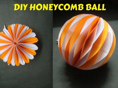 How To Make Honeycomb Ball. Paper craft ideas. DIY Paper Craft and Art.