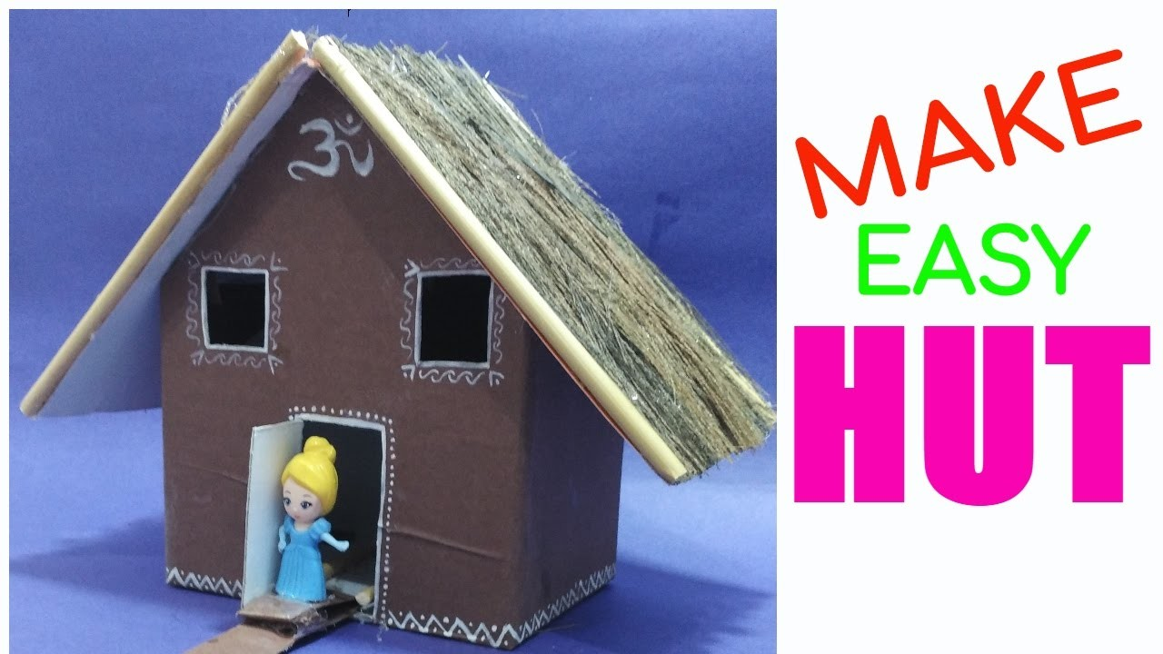 How to make hut best out of waste competition hut craft for Waste materials at home