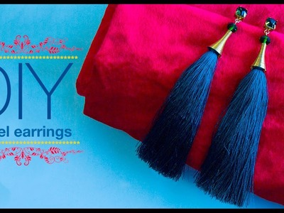 How to make silk thread Tassel earrings| DIY | Jewellery making