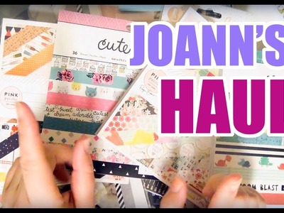 Joann's Crafty And Planner Haul