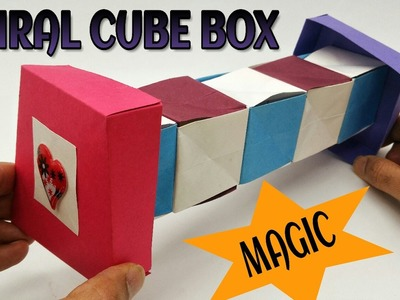 Magic Spiral Cube Box - DIY Tutorial by Paper Folds