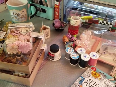 Micheals purchase and a quick look around my craft room ????